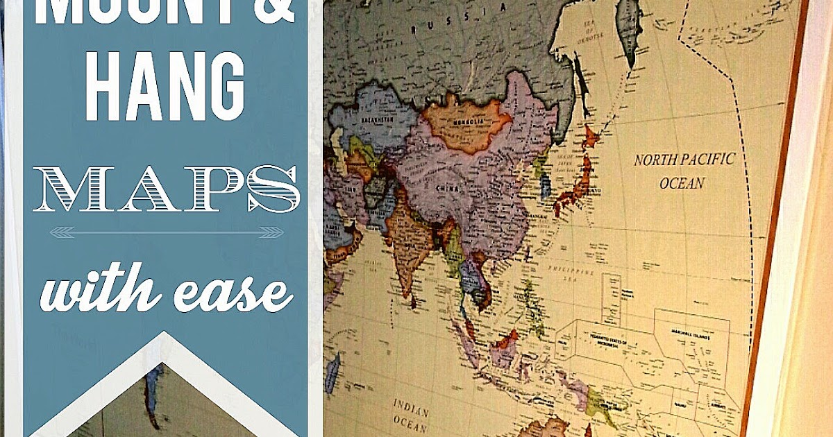 Mount And Hang Large Maps With Ease So Much To Make - 4 piece world map