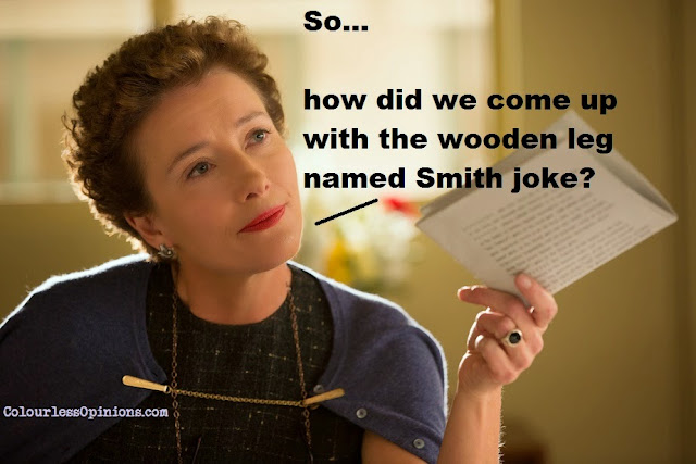 Emma Thompson as PL Travers in Saving Mr. Banks movie still meme