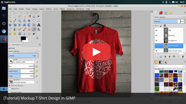 [Tutorial] Mockup T-Shirt Design in GIMP Photoshop