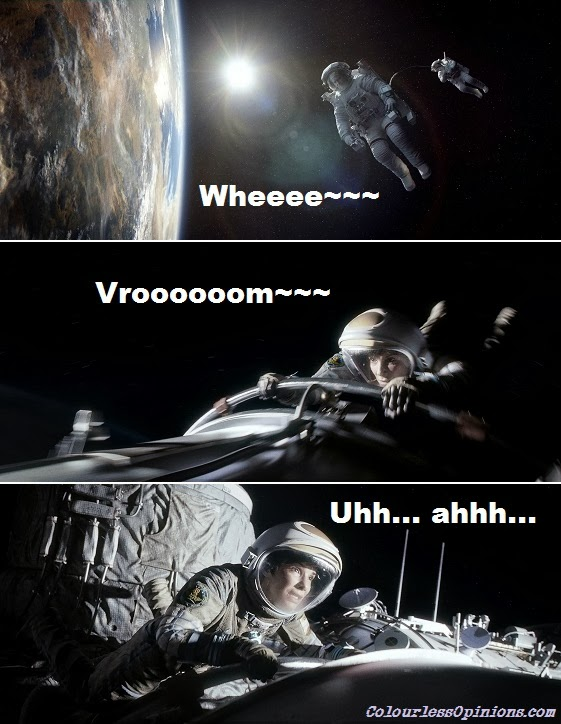 Gravity movie stills meme