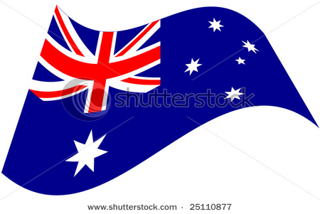 stock vector stylized australian flag