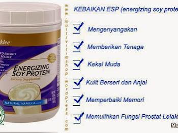 Checklist Soya Yang Selamat, Semestinya Energizing Soy Protein (ESP)
