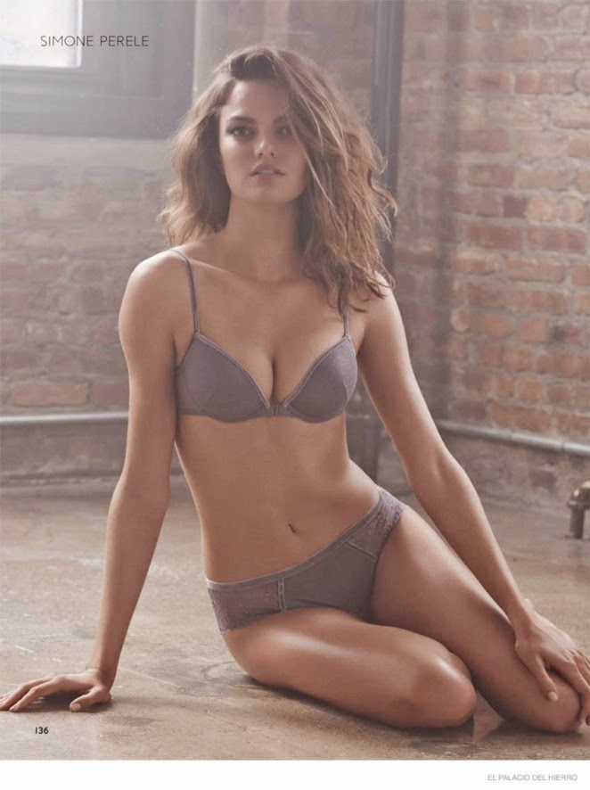Barbara Fialho wears lingerie for the El Palacio de Hierro Lookbook 2014