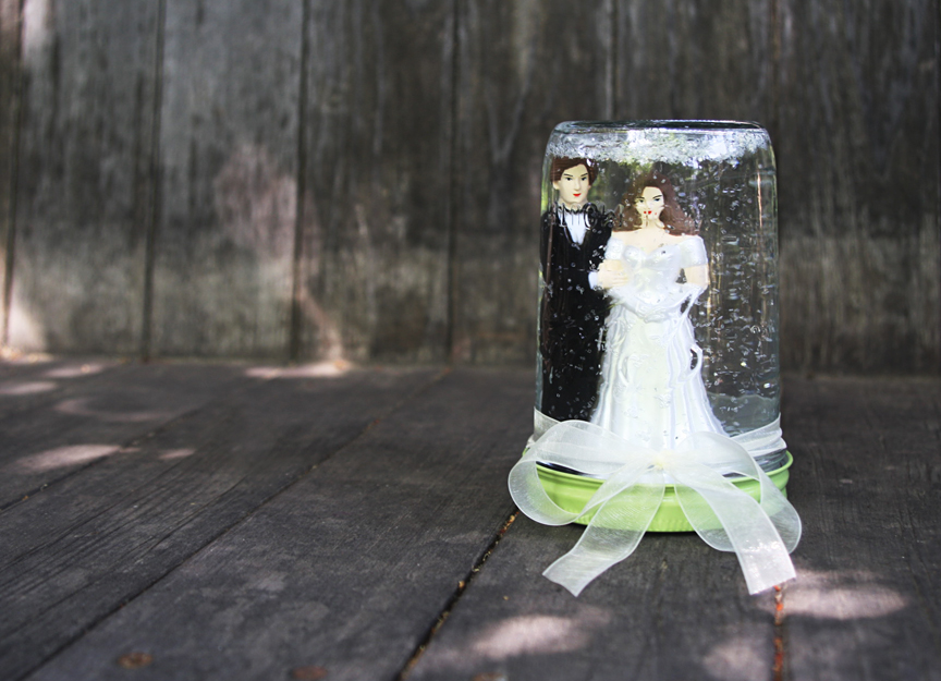 Plastic Wedding Bands >> Please Note: DIY: Wedding Snow Globe
