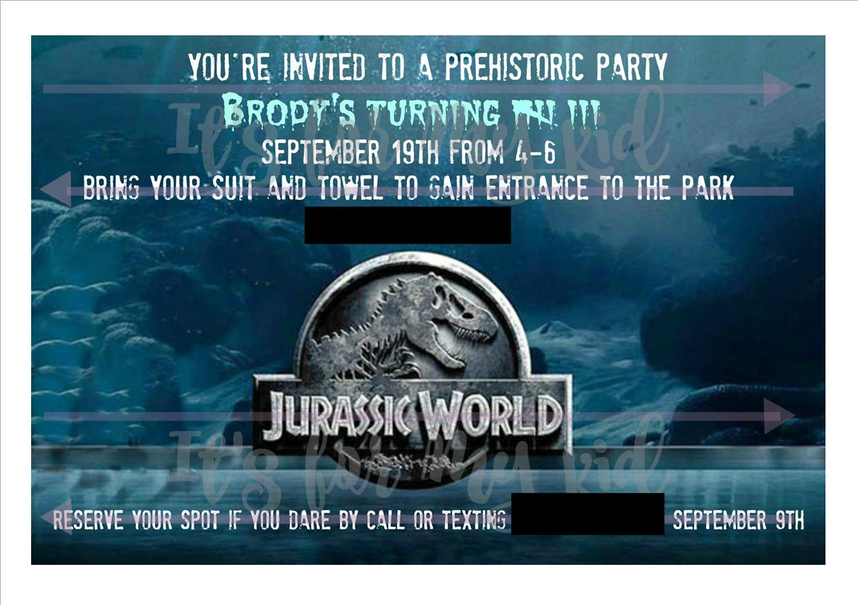 its for my kid Jurassic World Theme Birthday Party