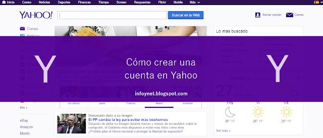Cómo crear una cuenta en Yahoo
