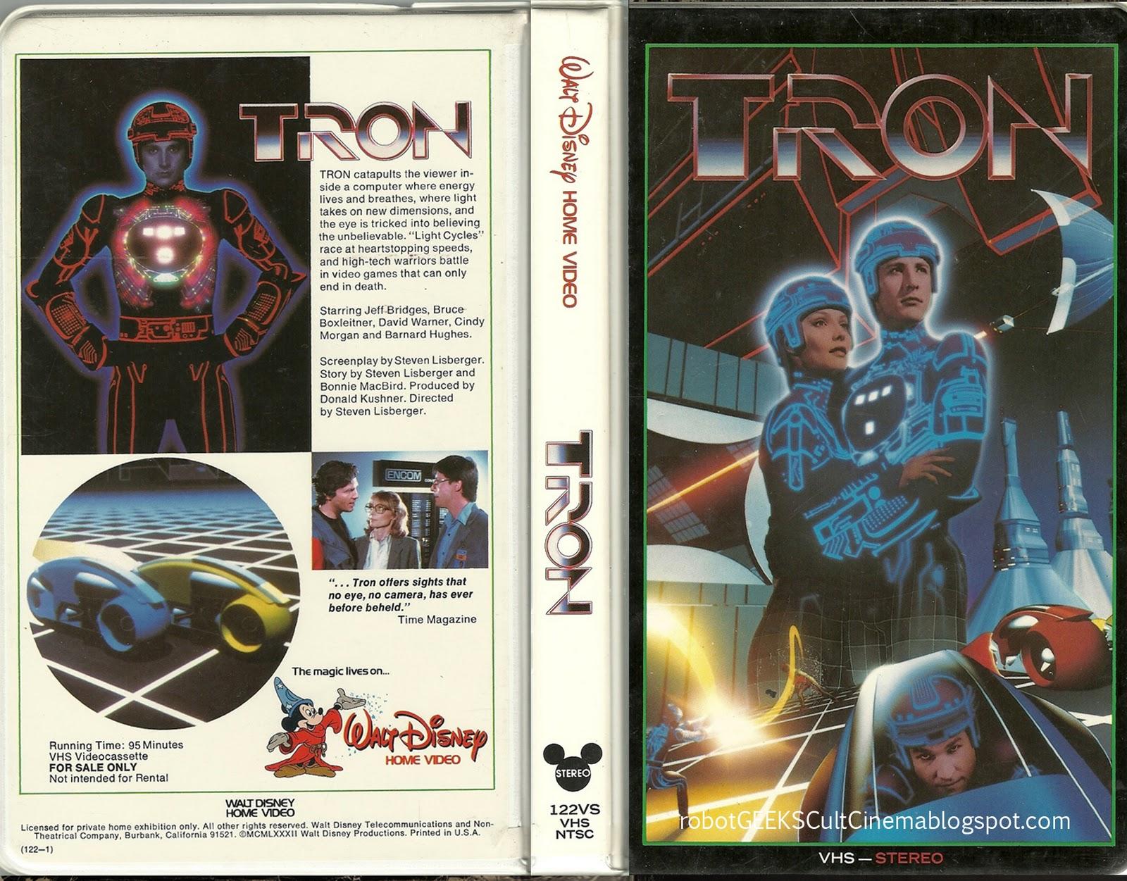 Tron original Disney U.S. VHS clamshell release