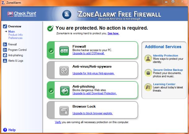 ZoneAlarm Free Firewall Version 9.2.106 download now ...
