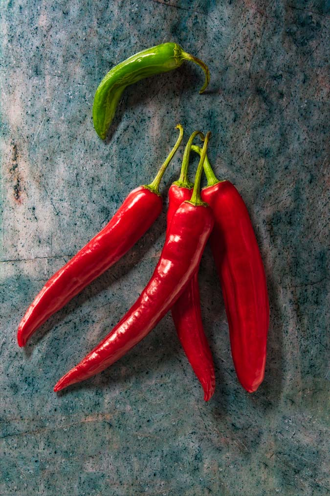 peperoncino chili pepper still life