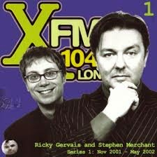 XFM - Stephen Merchant and Ricky Gervais freestyle riffing about writing