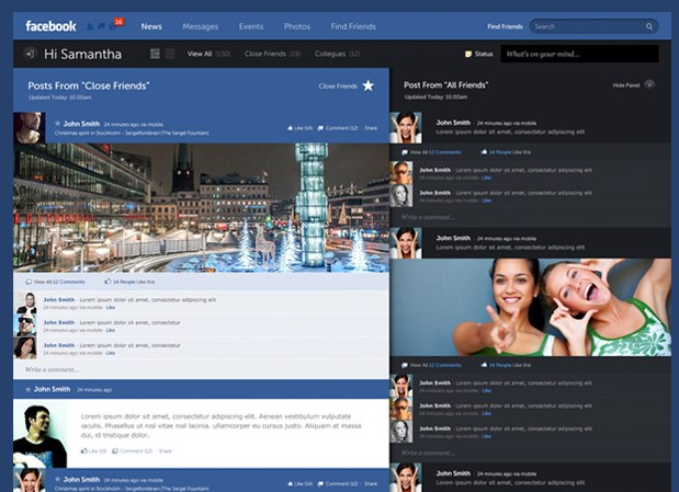 New Facebook Design concept