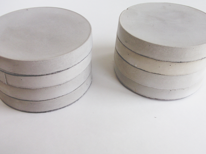 A daily something diy cement coasters for How to make concrete coasters