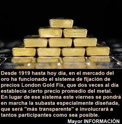 MUNDO: Punto de inflexión en la historia del oro: lanzan nuevo sistema de cotización mundial
