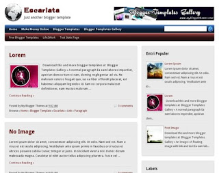 Escarlata Blogger Template