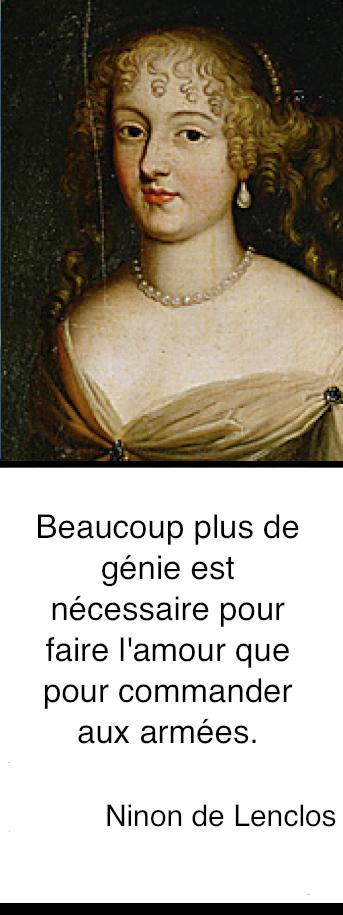 http://fr.wikipedia.org/wiki/Ninon_de_Lenclos