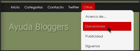 Menú desplegable animado con jQuery y CSS para Blogger