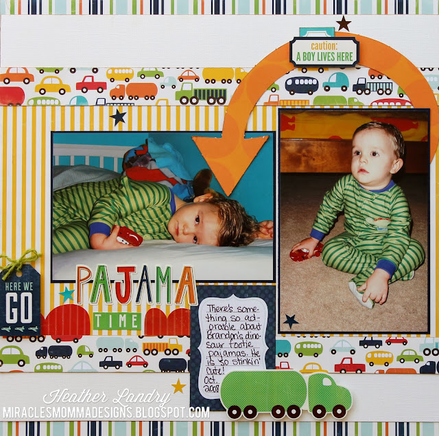 Footie Pajama_Scrapbook Page_Echo Park_Cars