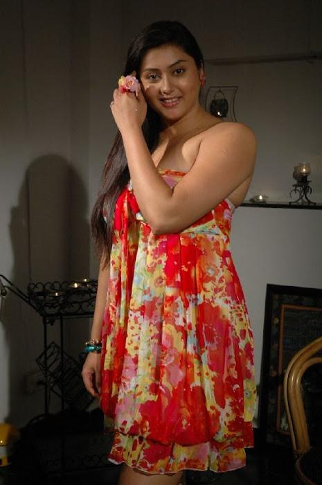 namitha in strapless gown cute stills