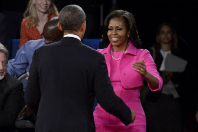 Michelle Obama Pink Dress at Debate