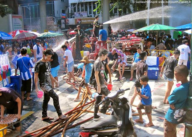 Songkran in Silom Bangkok
