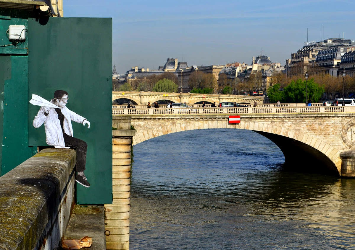 Charles Leval better known as Levalet just unveiled a brand new piece on the streets of his hometown, Paris in France.