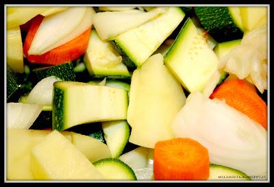 verdure crude tagliate