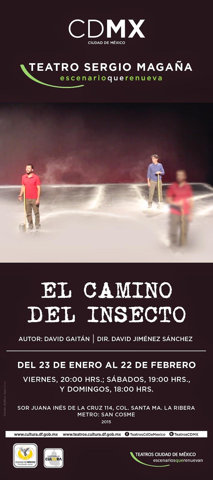 """Se presenta """"El camino del insecto"""" de David Gaitán en el Teatro Sergio Magaña"""