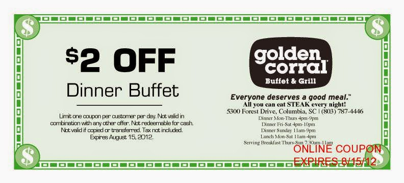 image about Coupon for Golden Corral Buffet Printable identify Golden corral buffet discount coupons 2018 / Western electronic coupon codes