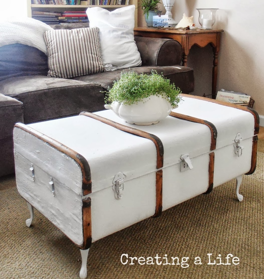 Boiserie c dipingere pitturare patinare vecchi mobili - Baule come tavolino ...
