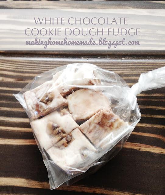 White Chocolate Cookie Dough Fudge