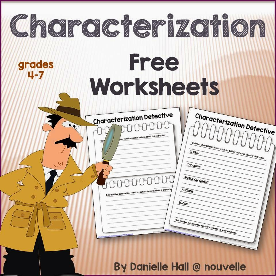 Characterization Detective Worksheets Freebie (link)