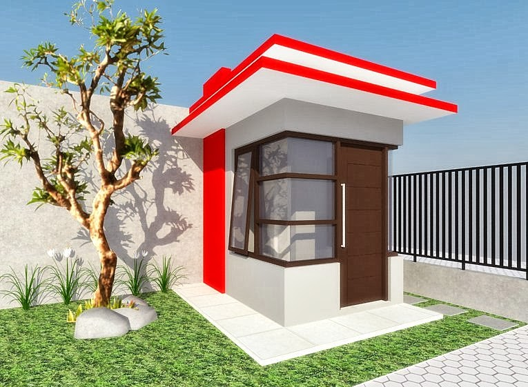 Easy living indonesia desain pos satpam ibu isna surabaya for Easy living