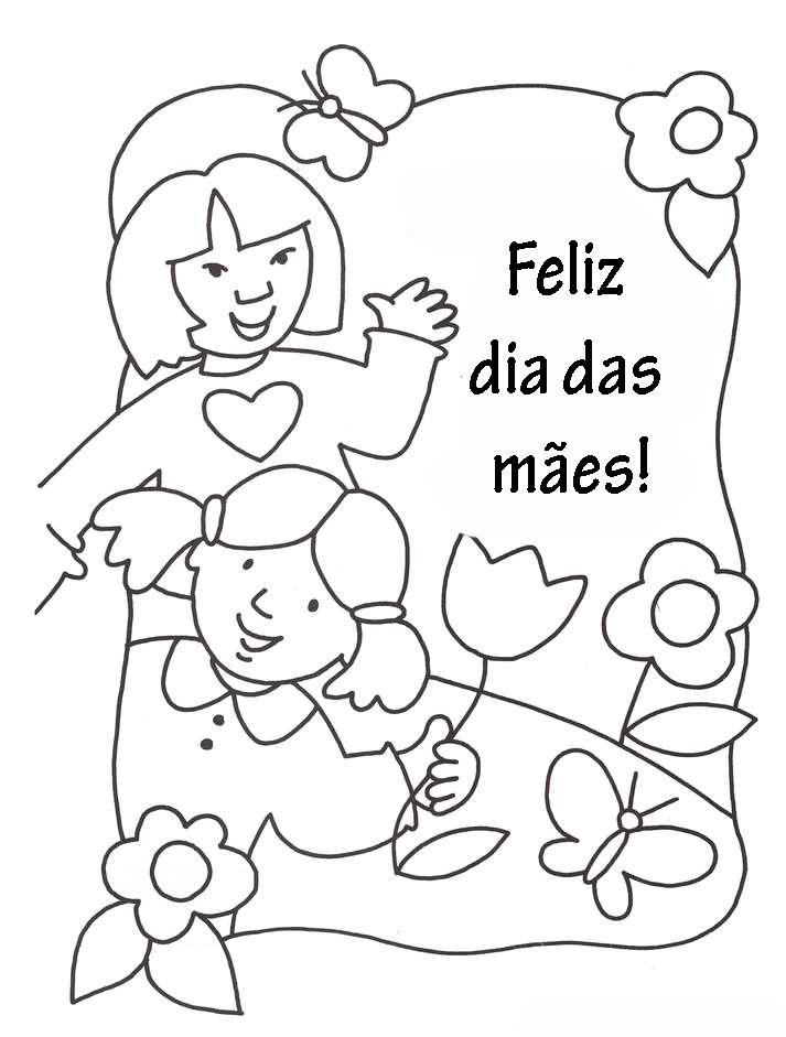 flores no jardim letra:Evangelizando Crianças: DESENHOS E ATIVIDADES – DIA DAS MÃES