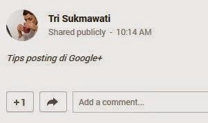 tips google+ membuat tulisan miring