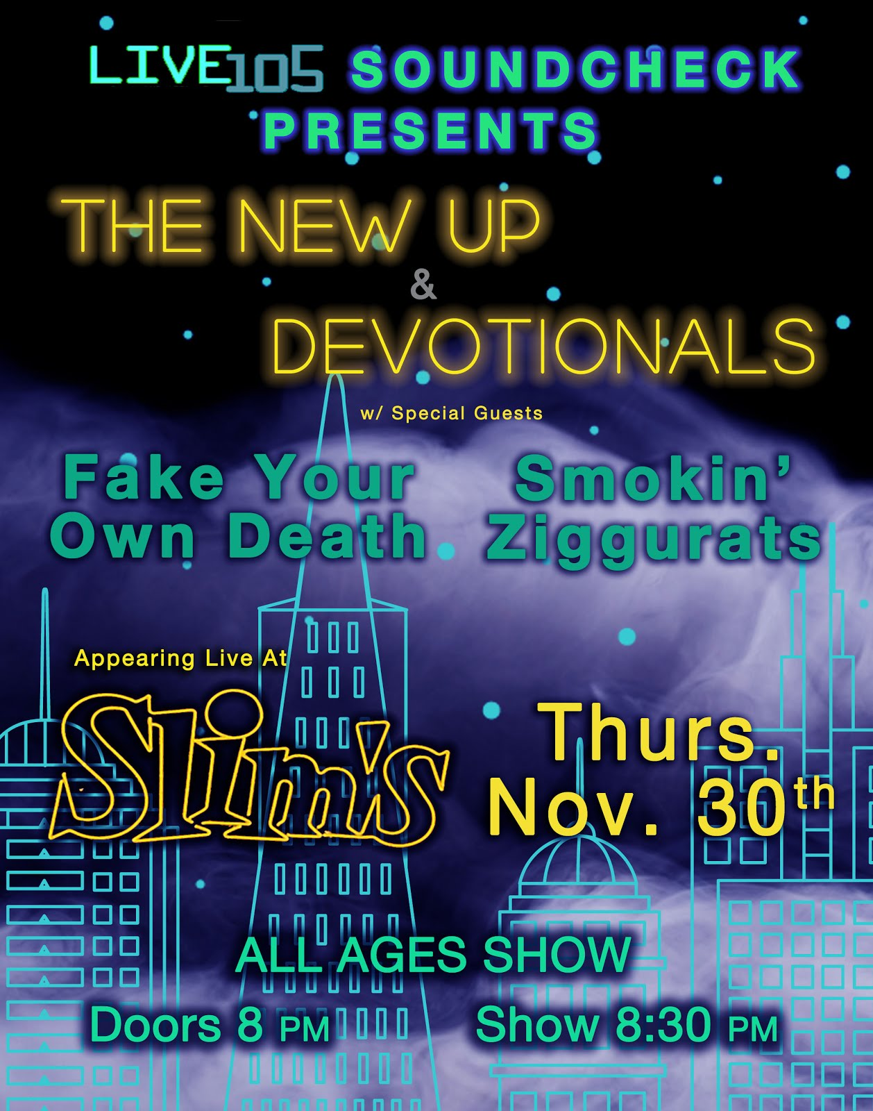 11/30 : The New Up @ Slim's