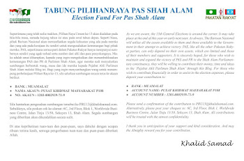 Tabung Pilihanraya PAS Shah Alam
