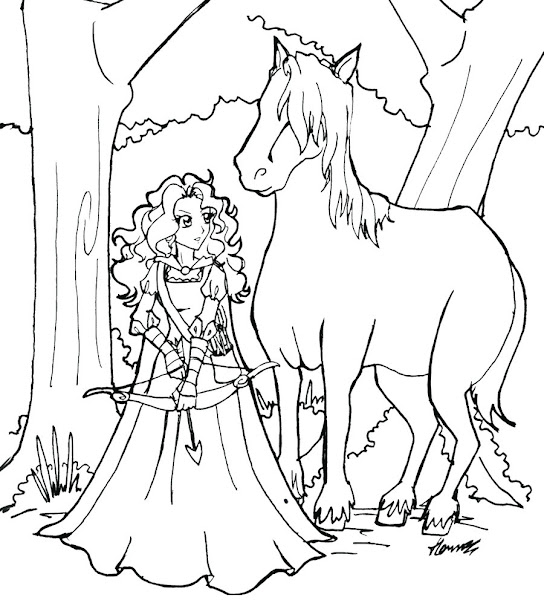 Disney Princess Merida Coloring Pages