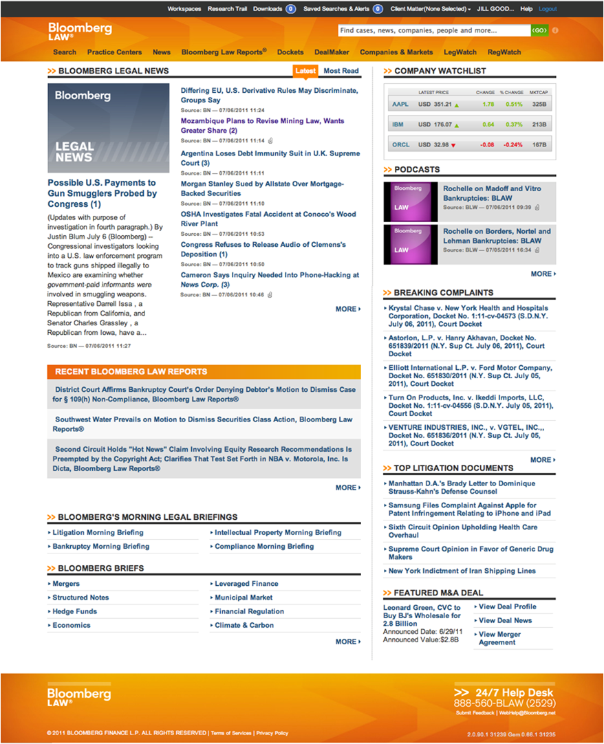 Bloombergu0027s New Front Page