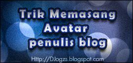 Trik Memasang Avatar penulis blog