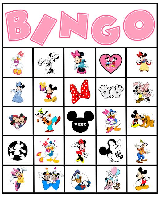 Canny image with disney bingo printable