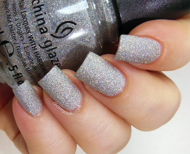 China Glaze Glistening Snow swatch matte