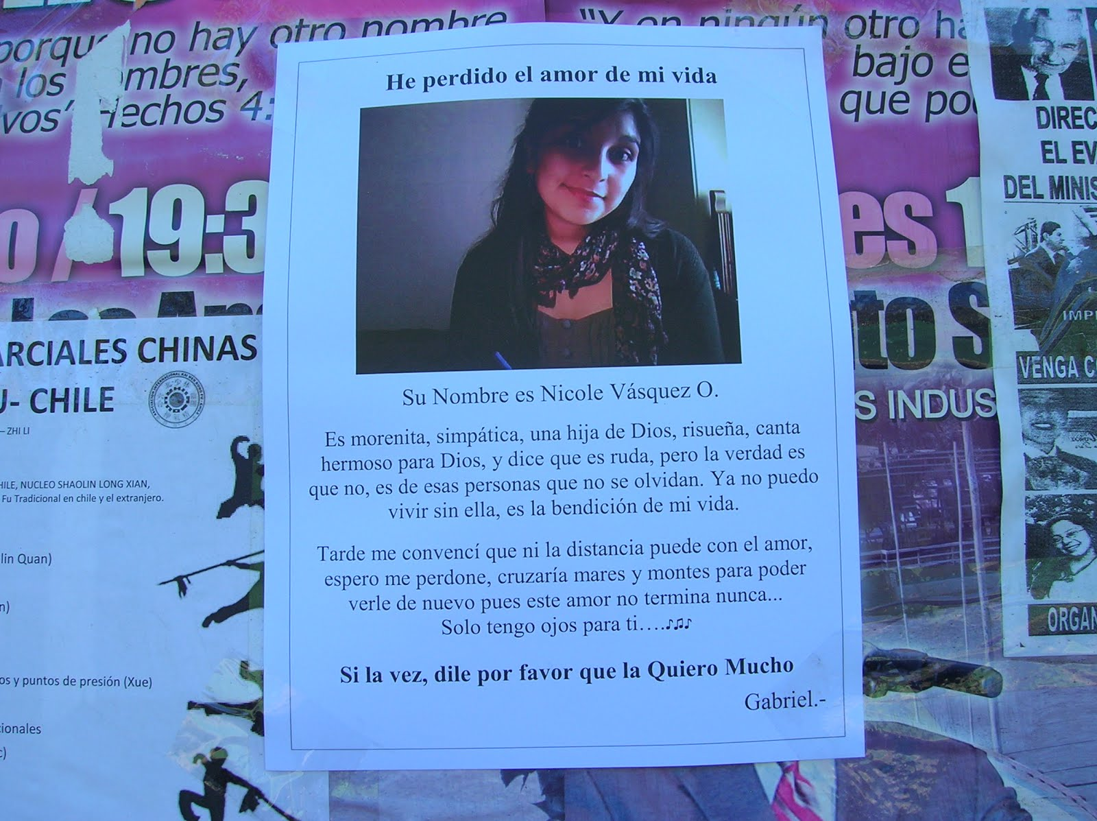 Cartel romántico, Los Angeles, Chile, vuelta al mundo, round the world, La vuelta al mundo de Asun y Ricardo