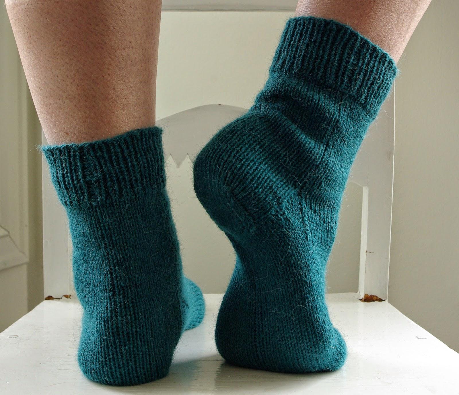 mønster sokker oppskrift
