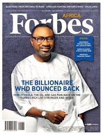 Nigerian Oil Tycoon Femi Otedola Covers Forbes Africa Magazine