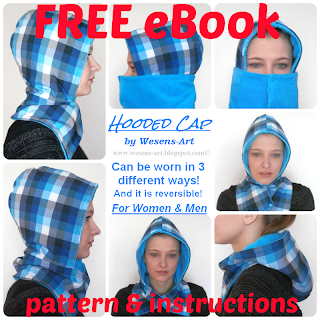 Hooded Cap by wesens-art.blogspot.com