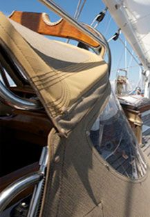 Sunbrella marine fabric in use