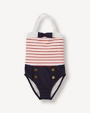 Sailor Stripe Swimsuit: now $26.99!