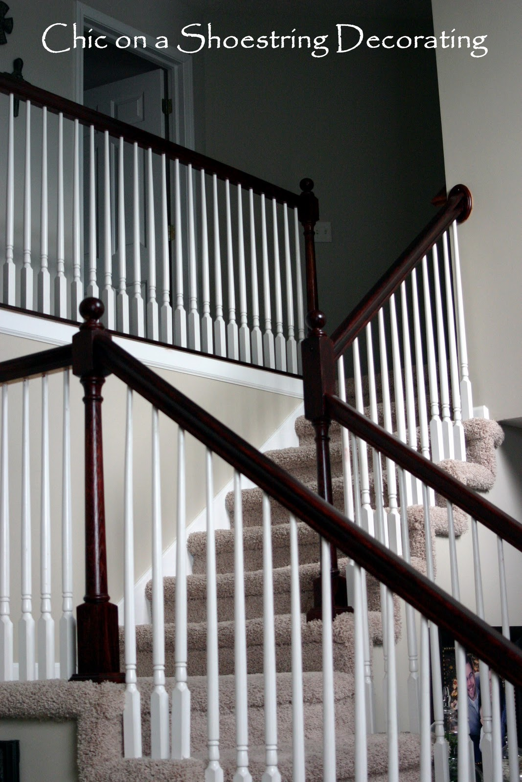 Chic On A Shoestring Decorating: How To Stain Stair Railings And Banisters