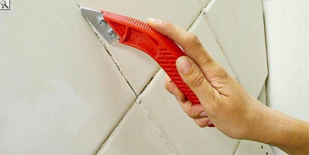 Un manitas por casa como renovar el color de las juntas - Como tapar agujeros en azulejos ...