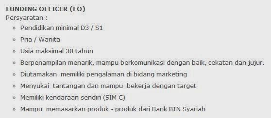 lowongan kerja bank btn syariah di bekasi agustus 2014